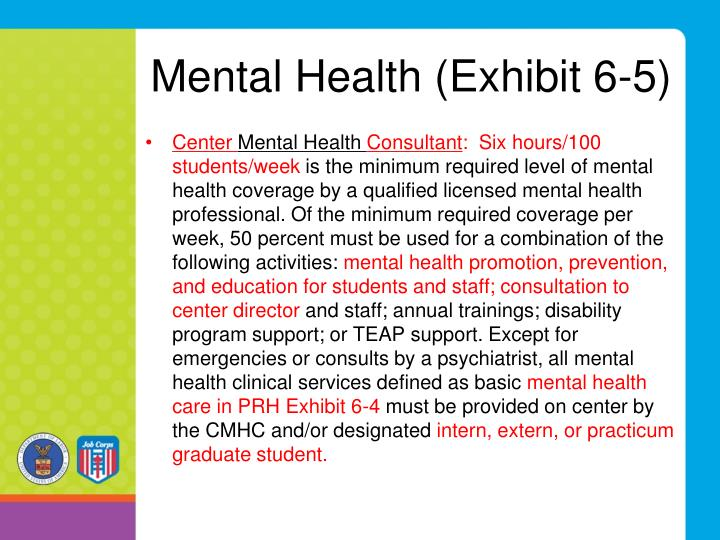 Mental Health (Exhibit 6-5