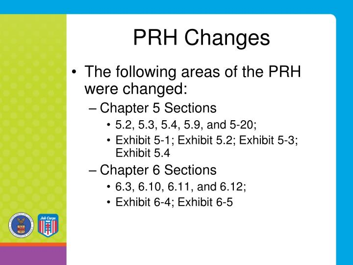 PRH Changes