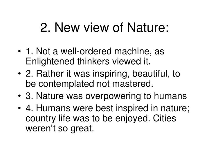 2. New view of Nature: