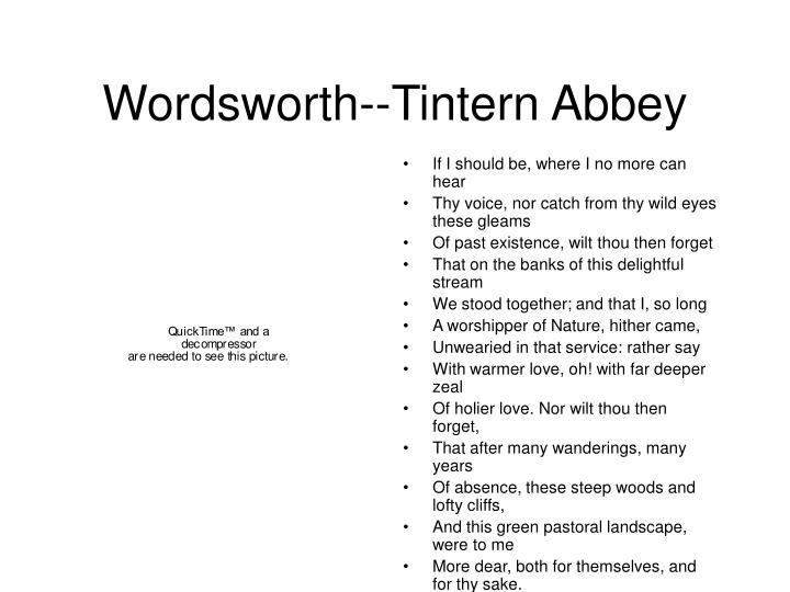 Wordsworth--Tintern Abbey