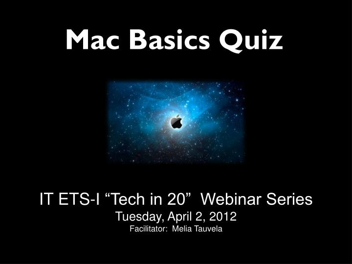 Mac basics quiz