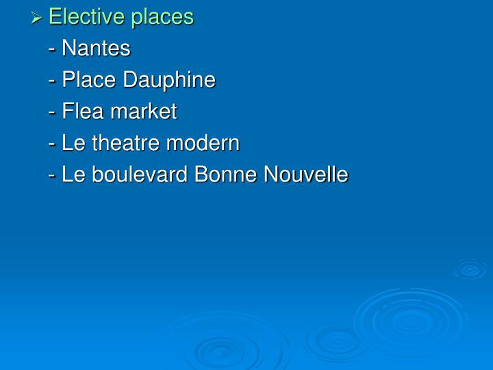 Elective places