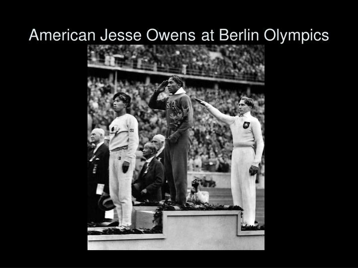 American Jesse Owens