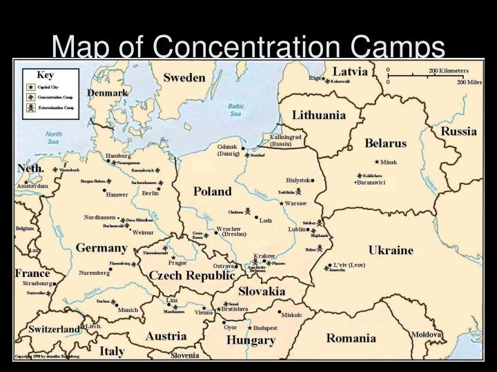 Map of Concentration Camps