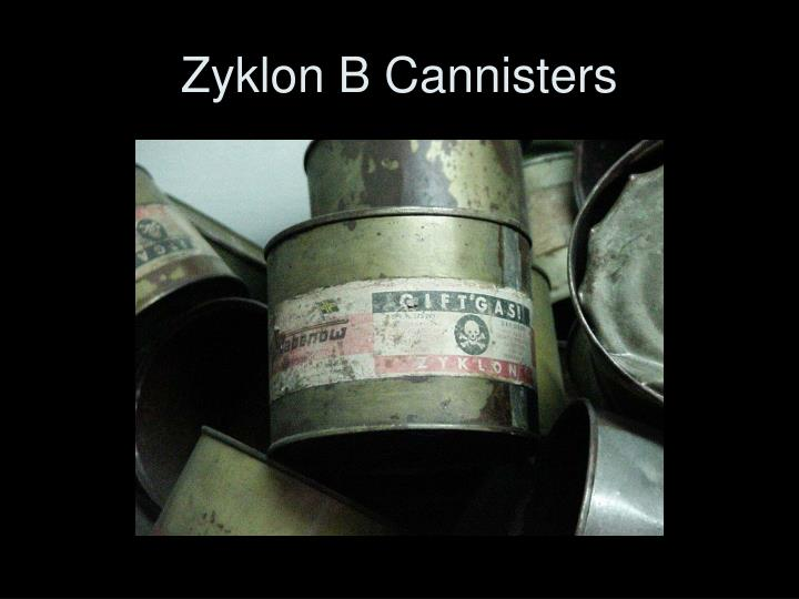 Zyklon B Cannisters