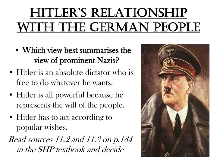 Hitler's relationship with the German people