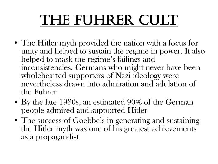 The Fuhrer cult