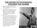 the hitler myth working towards the fuhrer
