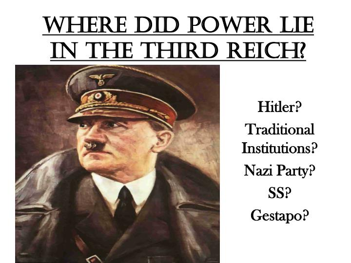 Where did power lie in the third reich