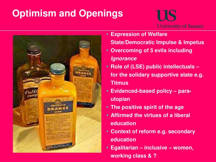 Optimism and Openings