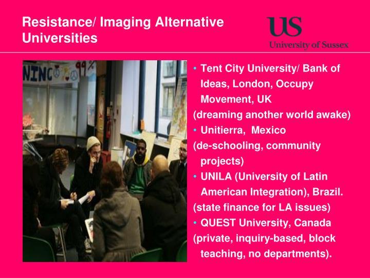 Resistance/ Imaging Alternative Universities