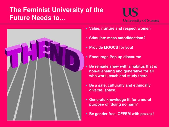 The Feminist University of the Future Needs to