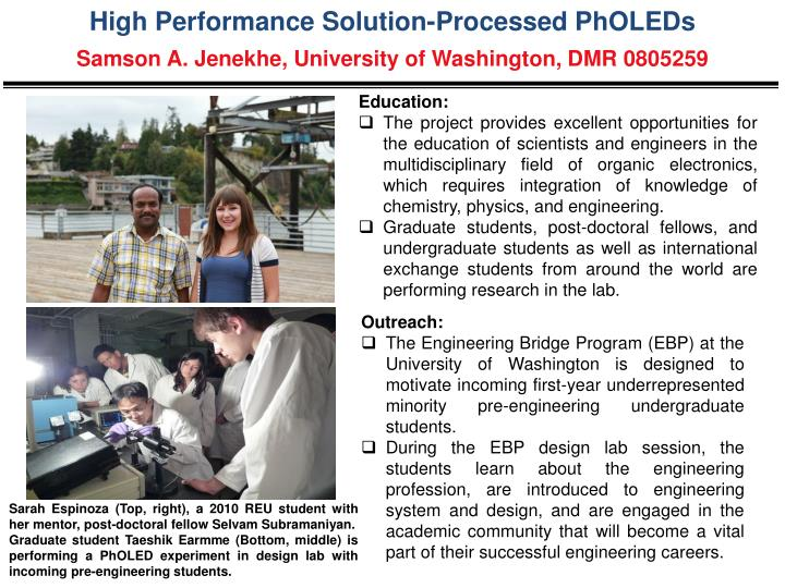 High Performance Solution-Processed PhOLEDs