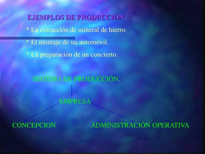 EJEMPLOS DE PRODUCCIÓN