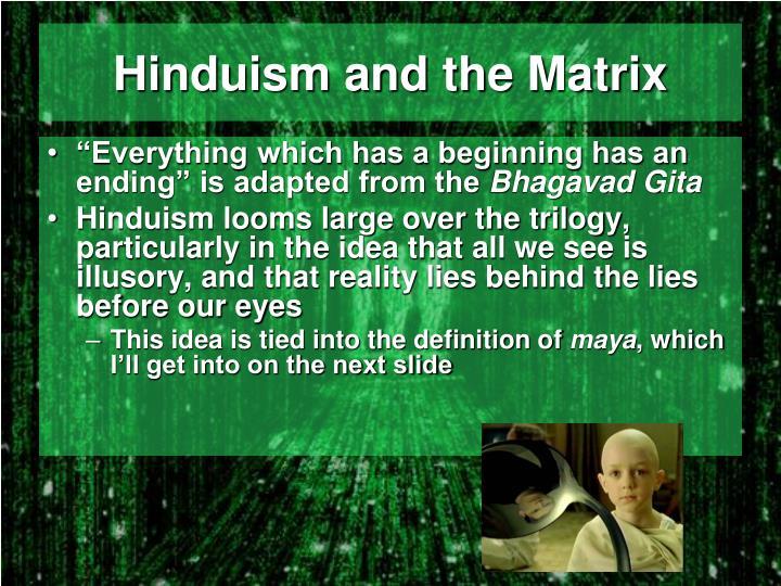 Hinduism and the Matrix