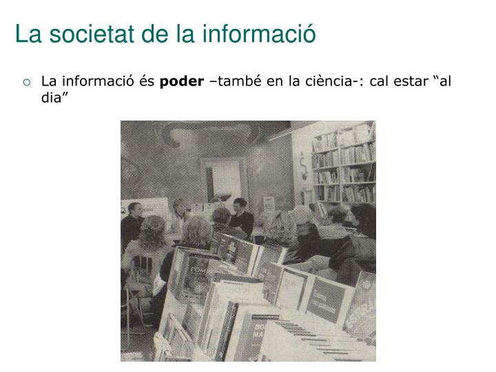 La societat de la informació