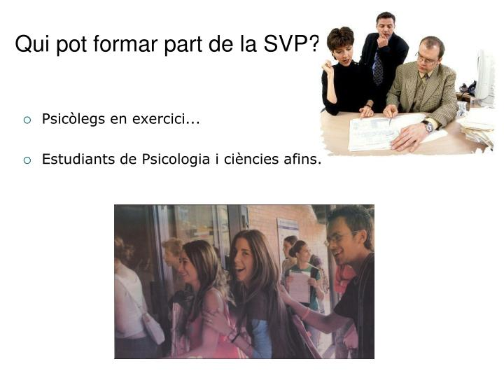 Qui pot formar part de la SVP?