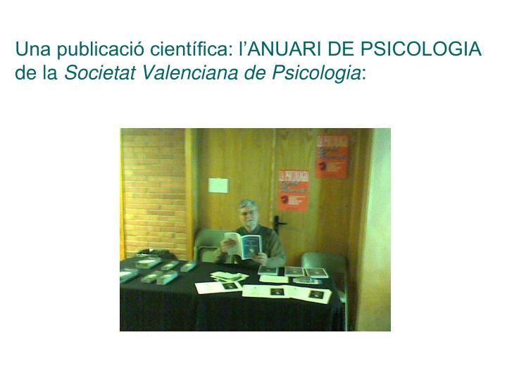 Una publicació científica: l'ANUARI DE PSICOLOGIA de la