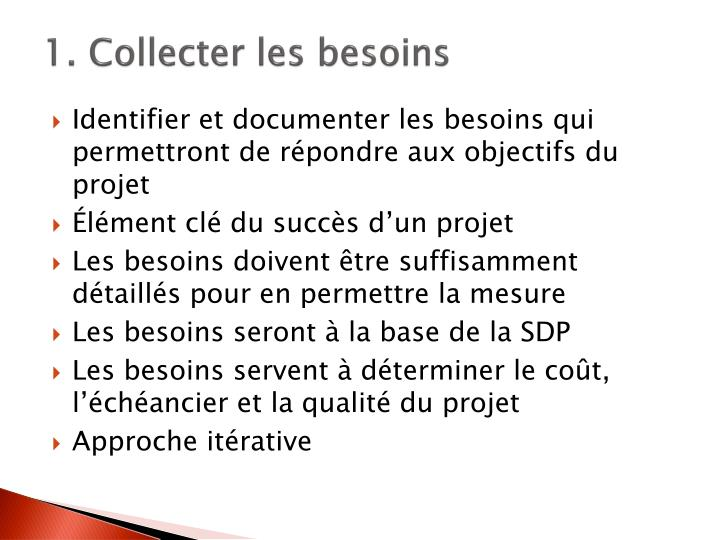 1. Collecter les besoins