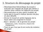 3 structure de d coupage du projet