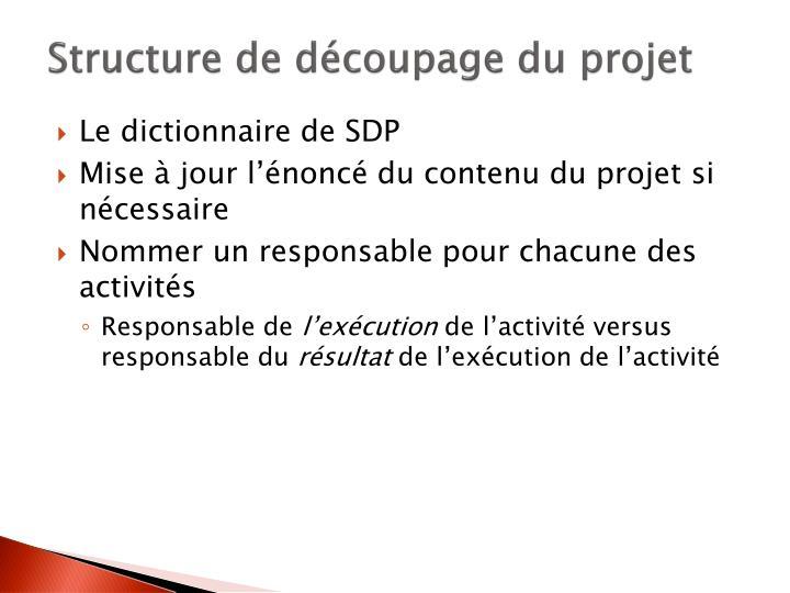 Structure de découpage du projet