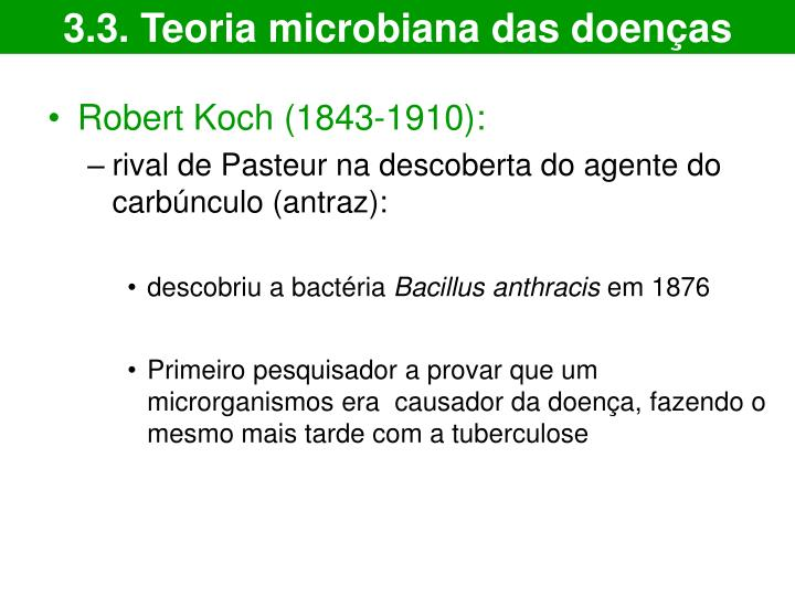3.3. Teoria microbiana das doenças