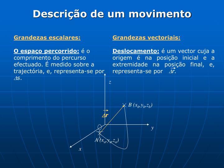 Grandezas vectoriais:
