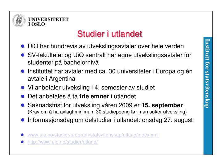 Studier i utlandet