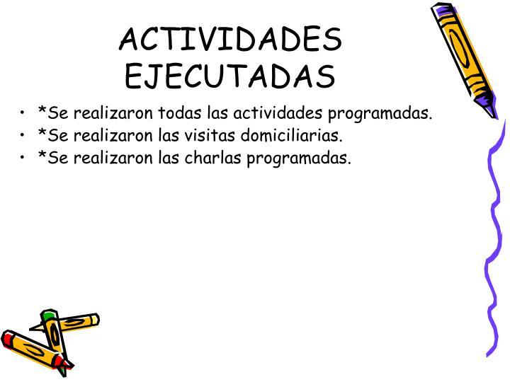 ACTIVIDADES EJECUTADAS