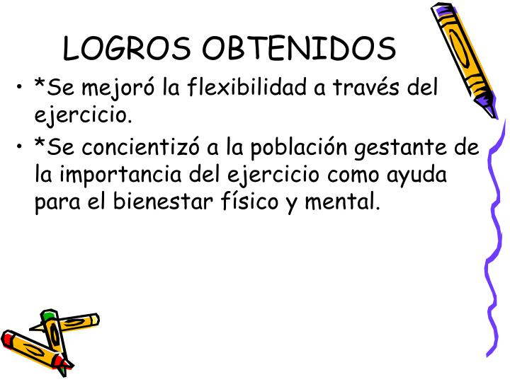 LOGROS OBTENIDOS