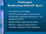 pathogen reduction haccp rule
