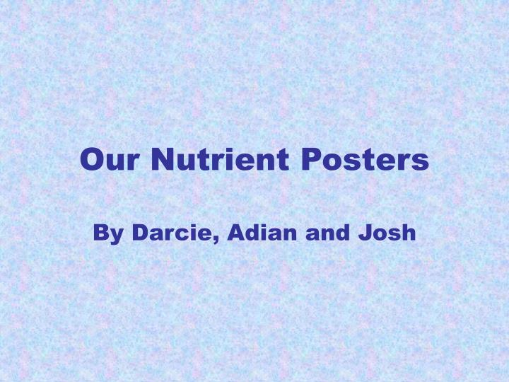 Our nutrient posters