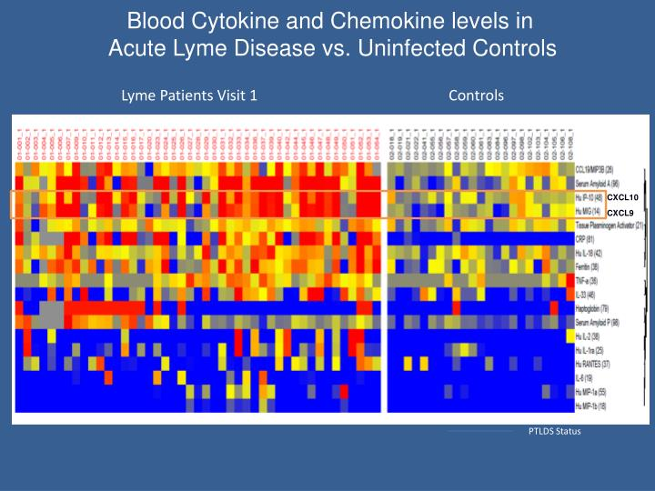 Blood Cytokine and Chemokine levels in
