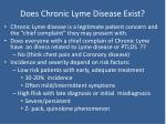 does chronic lyme disease exist