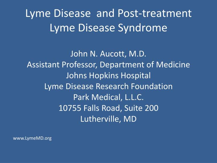 Lyme disease and post treatment lyme disease syndrome