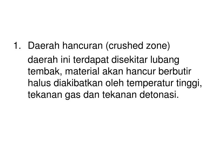 Daerah hancuran (crushed zone)
