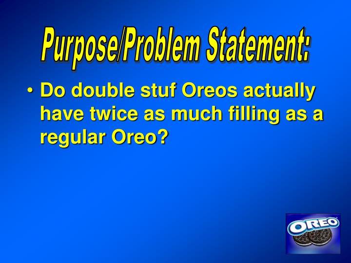 Purpose/Problem Statement: