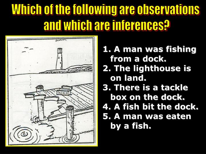 Which of the following are observations