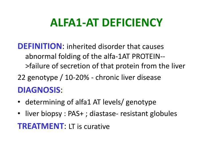 ALFA1-AT DEFICIENCY