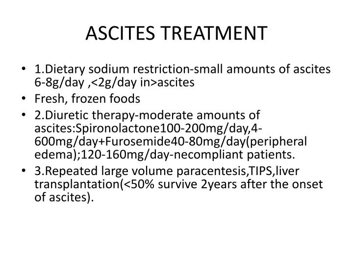 ASCITES TREATMENT