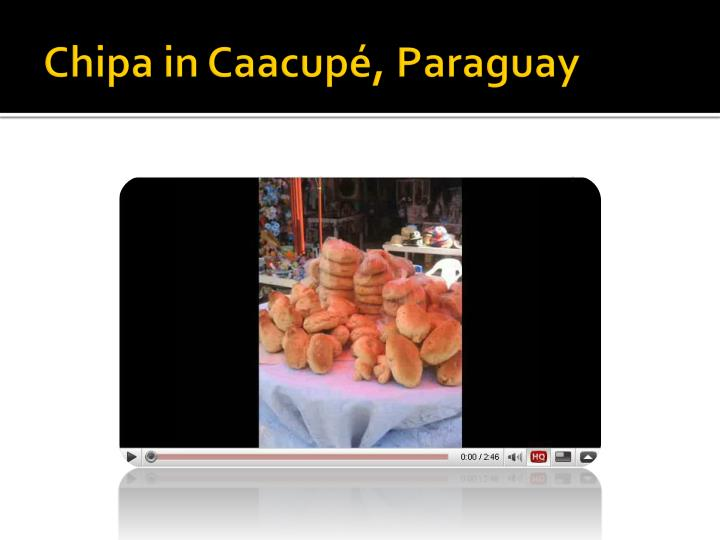 Chipa in Caacupé, Paraguay