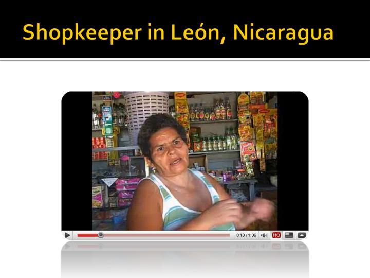 Shopkeeper in León, Nicaragua