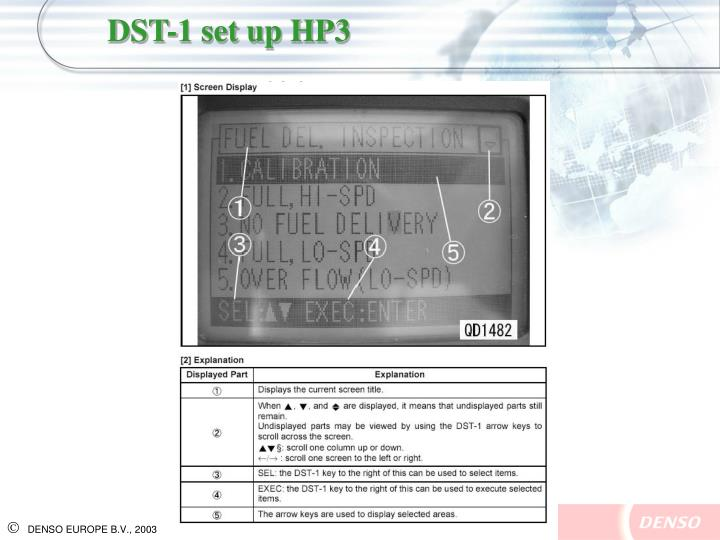 DST-1 set up HP3