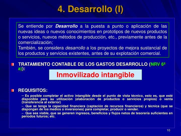 4. Desarrollo (I)