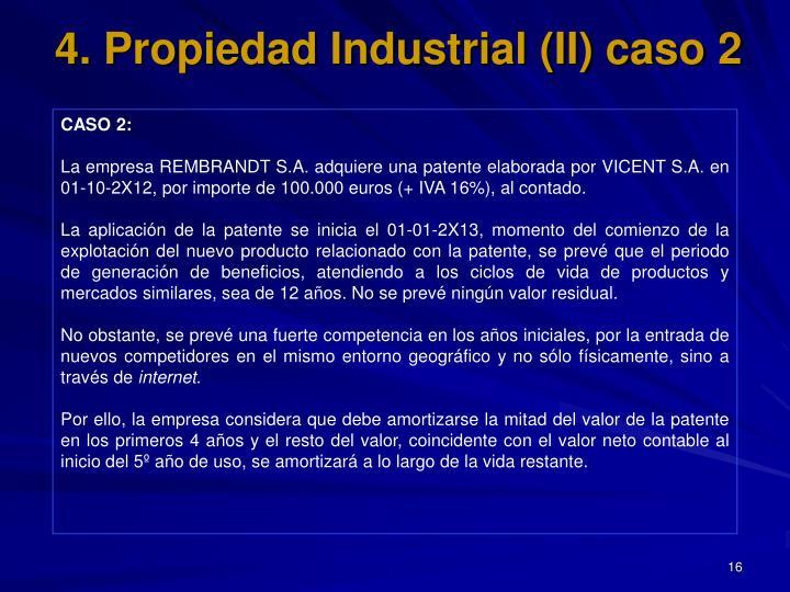 4. Propiedad Industrial (II) caso 2