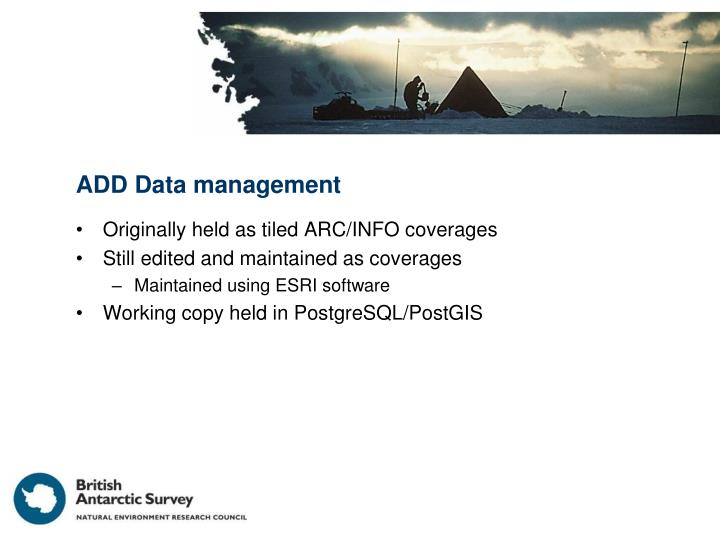 ADD Data management