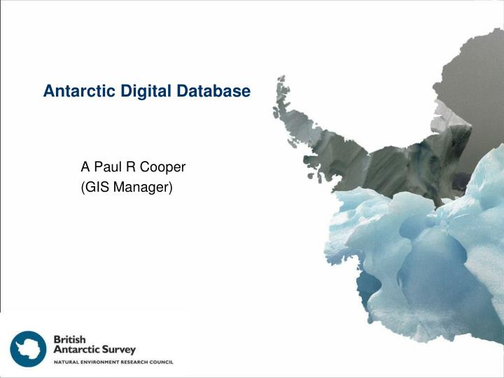 Antarctic digital database
