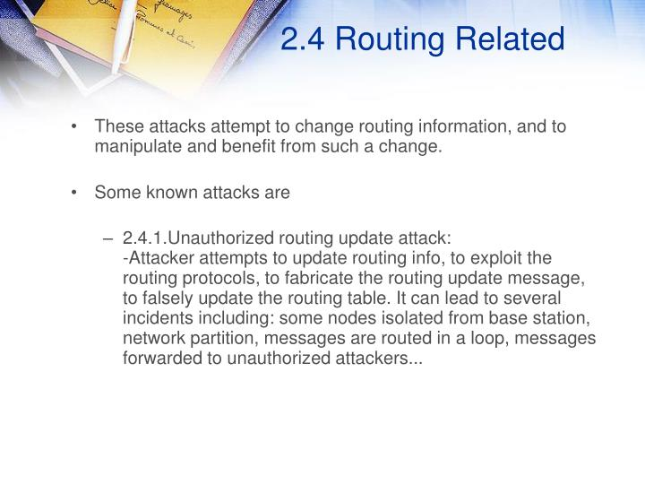 2.4 Routing Related