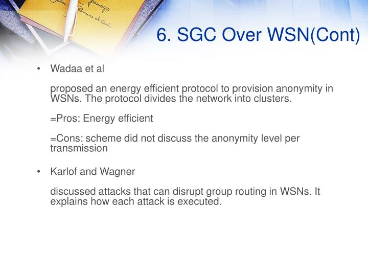 6. SGC Over WSN(Cont)