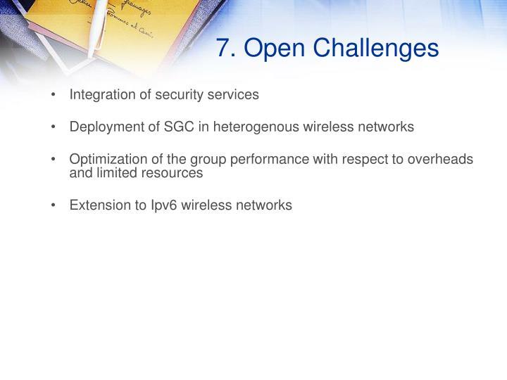 7. Open Challenges